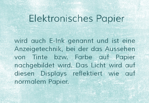 Elektronisches Papier