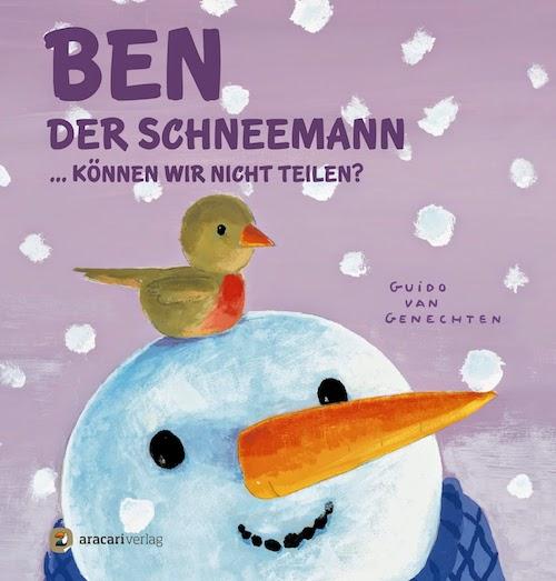 Buchtipp Ben der Schneemann ... können wir nicht teilen? von Guido van Genechten | Kinderbuch | Bilderbuch | Winter | Weihnachten | Bücher | Teilen lernen | Toleranz | Integration | Tintenmeer