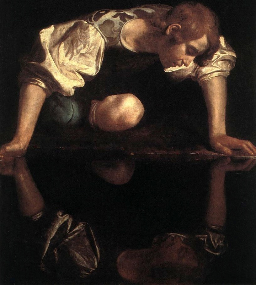 Narziss von Caravaggio (Foto: Playing Futures Applied Nomadology auf flickr)