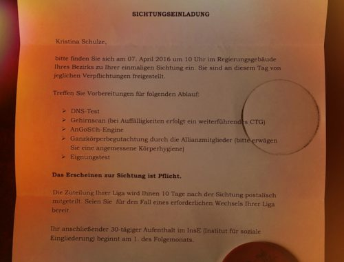 Brief AurA Eupa Bloggeraktion